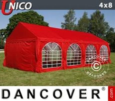 Party tent UNICO 4x8 m, Red