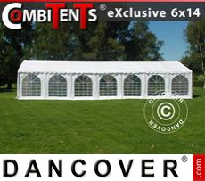 Party tent 6x14 m 5-in-1, White