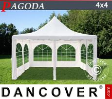 Party tent 4x4 m off-white