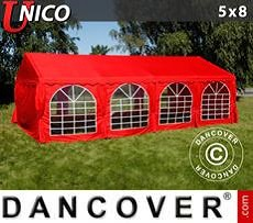 Party tent UNICO 5x8 m, Red