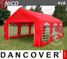 Party tent UNICO 4x6 m, Red