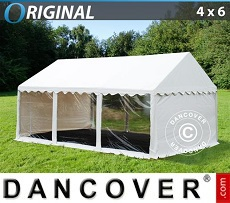 Party tent 4x6 m PVC, Panorama, White