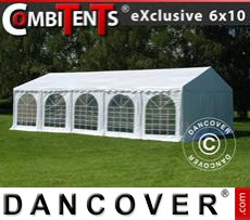 Party tent 6x10 m, 3-in-1, White