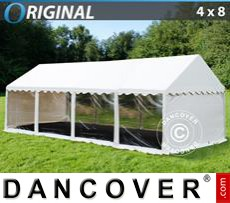 Party tent 4x8 m PVC, Panorama, White