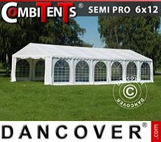 Party tent 6x12 m 4-in-1, White