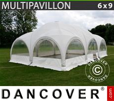 Party tent 6x9 m, White