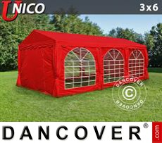 Party tent UNICO 3x6 m, Red