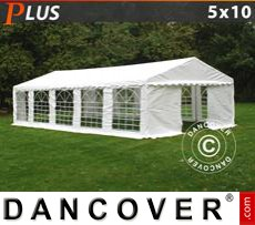 Party tent 5x10 m PE, White