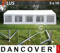 Party tent 5x10 m PE, White + Ground bar