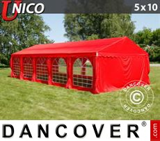 Party tent UNICO 5x10 m, Red