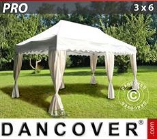 Party tent 3x6 m White, incl. 6 decorative curtains