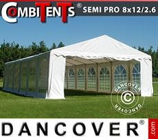 Party tent 8x12 (2.6) m 4-in-1, White