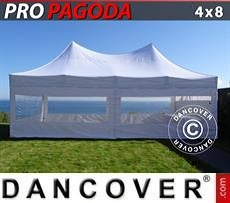 Party tent 4x8 m White, incl. 6 sidewalls