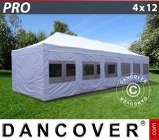 Party tent 4x12 m White, incl. sidewalls