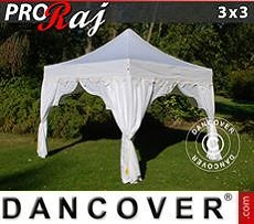 Party tent 3x3 m White/Gold