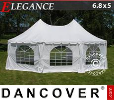 Party tent 6.8x5 m, Off-White