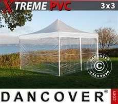 Party tent 3x3 m Clear, incl. 4 sidewalls