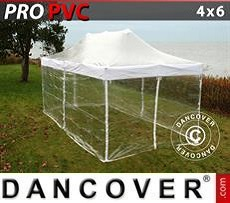 Party tent 4x6 m Clear, incl. 8 sidewalls
